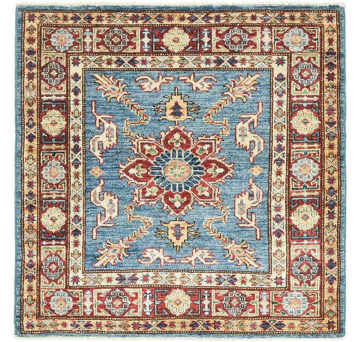 3' x 3' Kazak Oriental Square Rug
