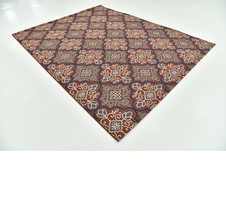 7' 10 x 10' Outdoor Botanical Rug