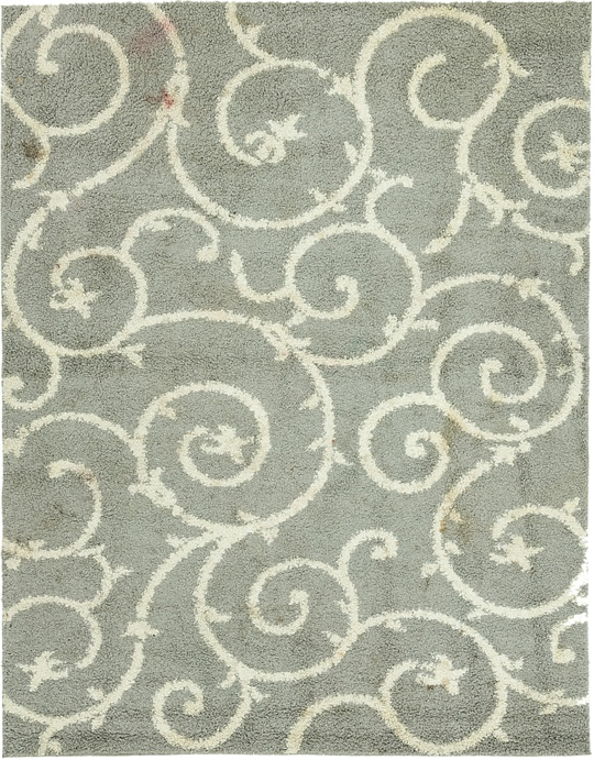 Gray  7' 9 x 10' Floral Shag