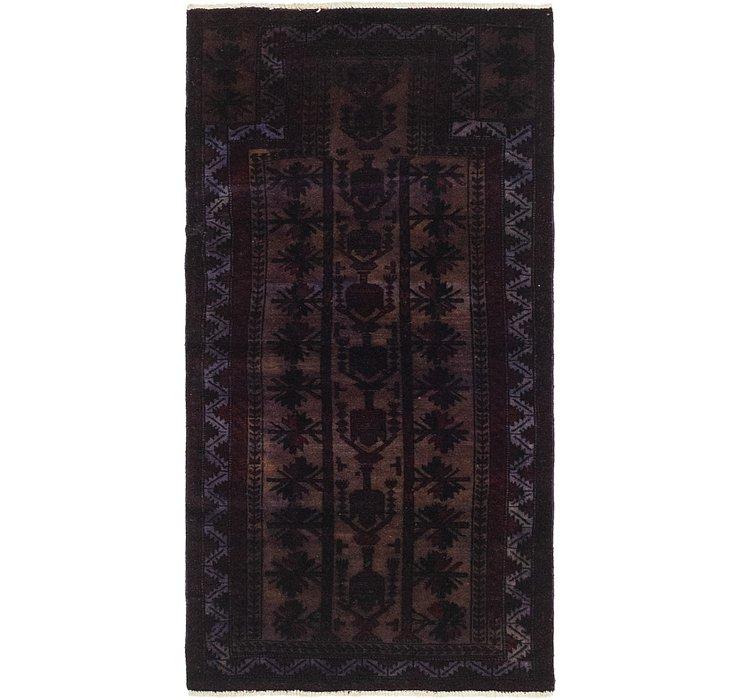 2' 4 x 4' 6 Ultra Vintage Persian Rug