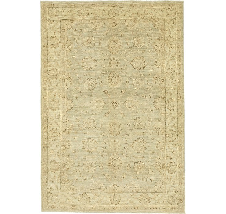 6' 1 x 9' Over-Dyed Ziegler Rug