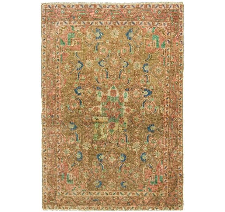 97cm x 140cm Ultra Vintage Persian Rug