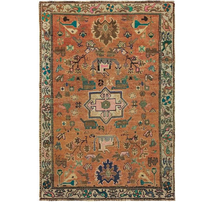 110cm x 160cm Ultra Vintage Persian Rug