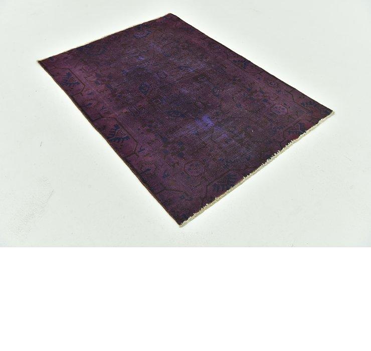 107cm x 145cm Ultra Vintage Persian Rug