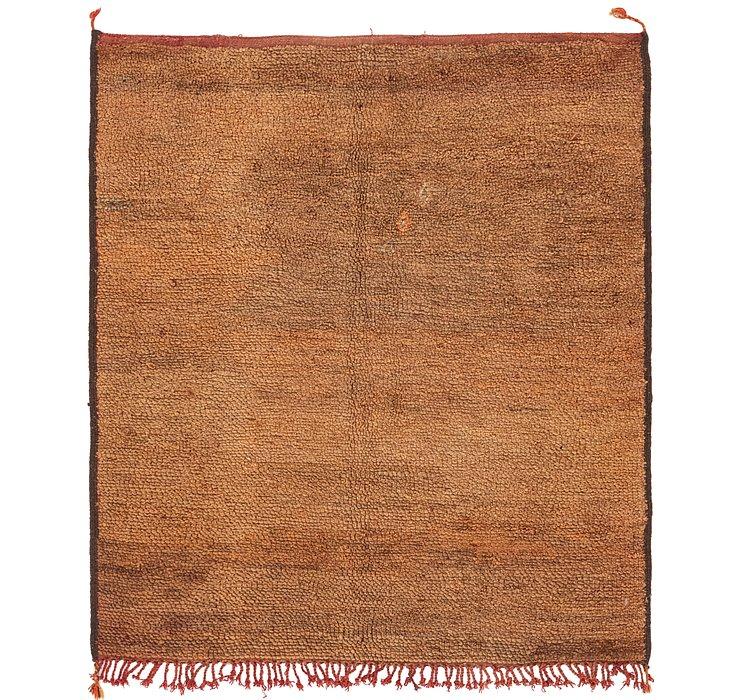 5' 3 x 5' 10 Moroccan Square Rug