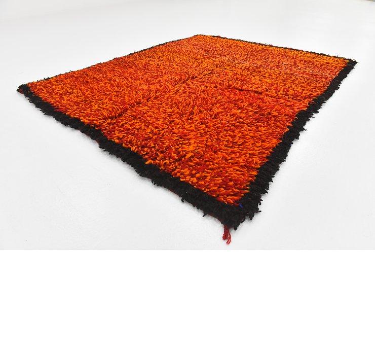 4' 3 x 5' 2 Moroccan Square Rug