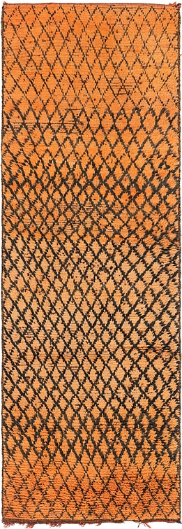 Orange  3' 2 x 9' 9 Moroccan Runner