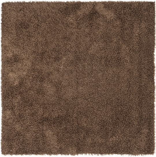 Chocolate Brown  6' 11 x 7' 1 Solid Shag Square
