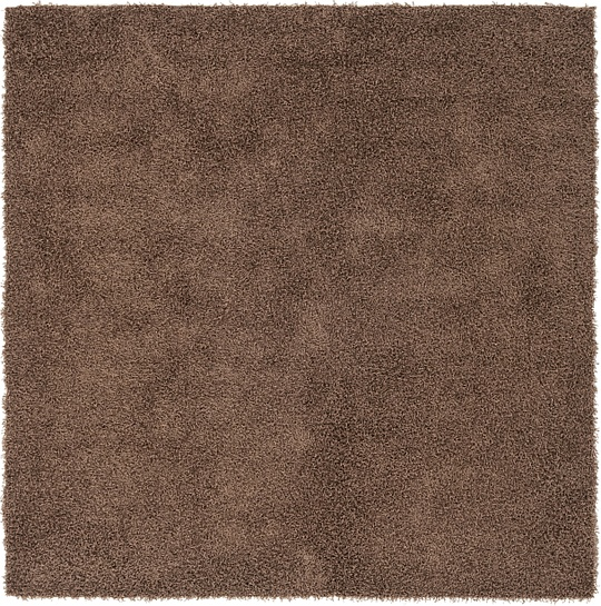 Chocolate Brown  7' x 7' 1 Solid Shag Square