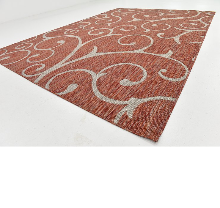 8' x 11' Outdoor Botanical Rug