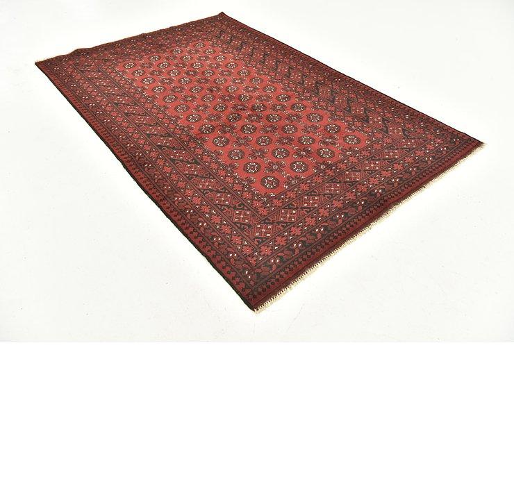 5' 2 x 8' Afghan Akhche Rug