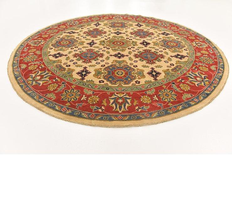 9' 1 x 9' 2 Kazak Oriental Round Rug