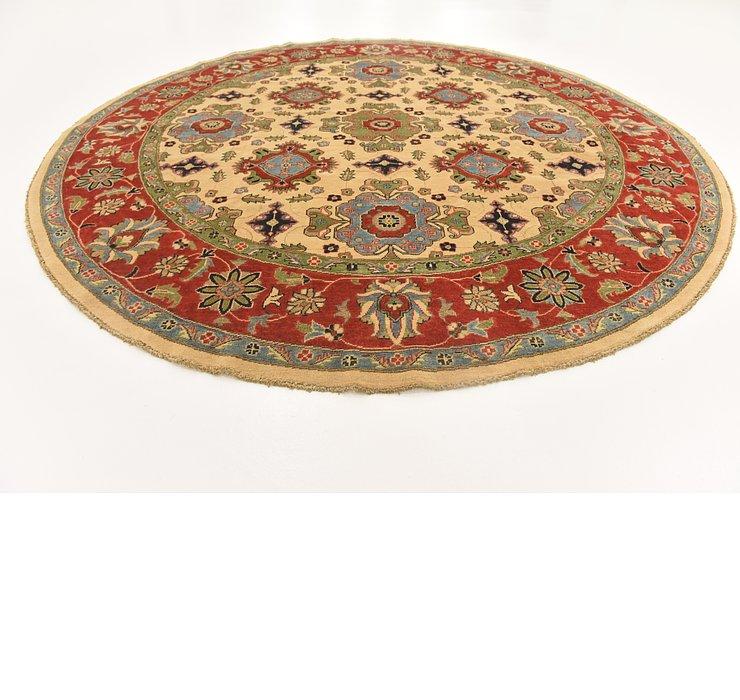 9' 1 x 9' 3 Kazak Oriental Round Rug
