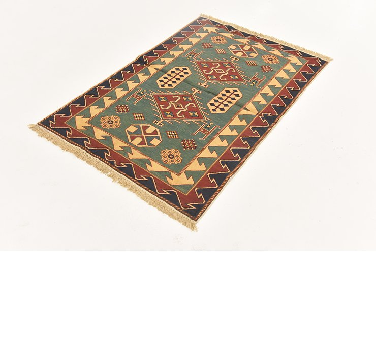 3' 2 x 4' 9 Shirvan Persian Rug