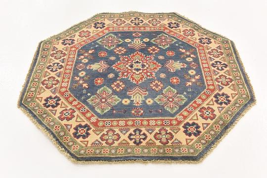 Blue  3' 2 x 3' 3 Kazak Octagon