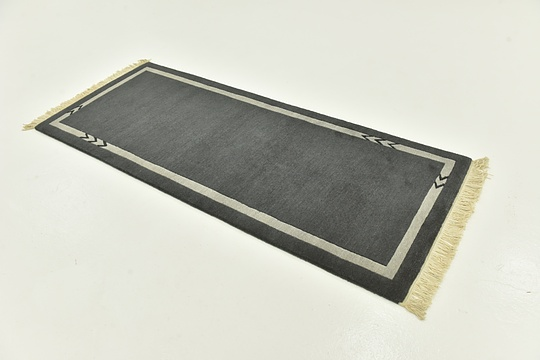 Dark Gray  2' 8 x 6' 7 Nepal Runner