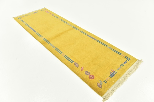 Yellow  2' 8 x 11' Nepal Runner