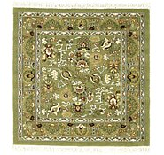 Link to 5' x 5' Tabriz Design Square Rug