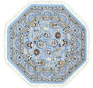 Link to 5' x 5' Tabriz Design Octagon Rug
