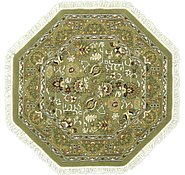 Link to 5' x 5' Tabriz Design Octagon Rug