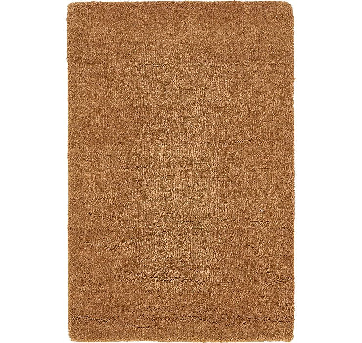 Light Brown Reproduction Gabbeh Rug