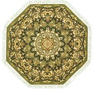 Link to 5' x 5' Mashad Design Octagon Rug