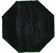 Link to 6' 7 x 6' 7 Solid Shag Octagon Rug