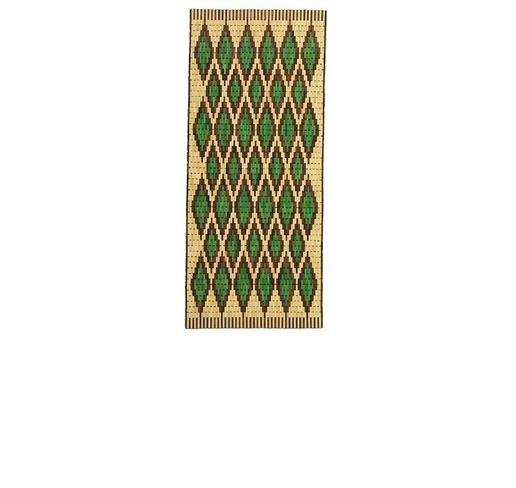 2' 6 x 13' Wooden Wood Runner Rug