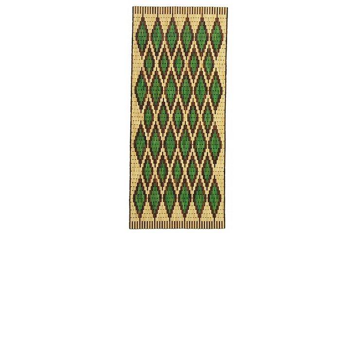 75cm x 395cm Wooden Wood Runner Rug