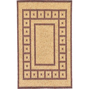 HandKnotted 5' x 8' Wooden Wood Rug