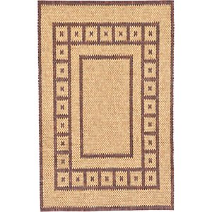HandKnotted 6' x 9' Wooden Wood Rug