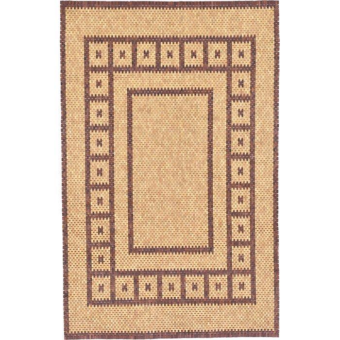6' x 9' Wooden Wood Rug