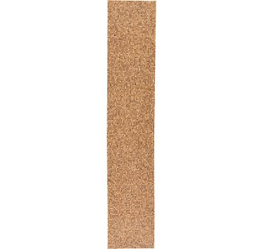 76x396 Wooden Rug