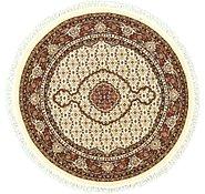 Link to 5' x 5' Tabriz Design Round Rug
