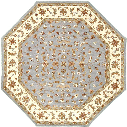 Blue 8' 2 X 8' 2 Classic Agra Octagon Rug