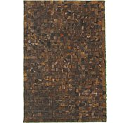 Link to 4' x 5' 11 Leather Patchwork Rug