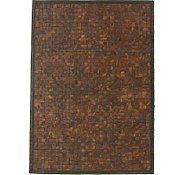 Link to 5' 7 x 7' 9 Leather Patchwork Rug