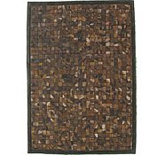 Link to 4' 8 x 6' 6 Leather Patchwork Rug
