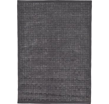170x236 Leather Patchwork Rug