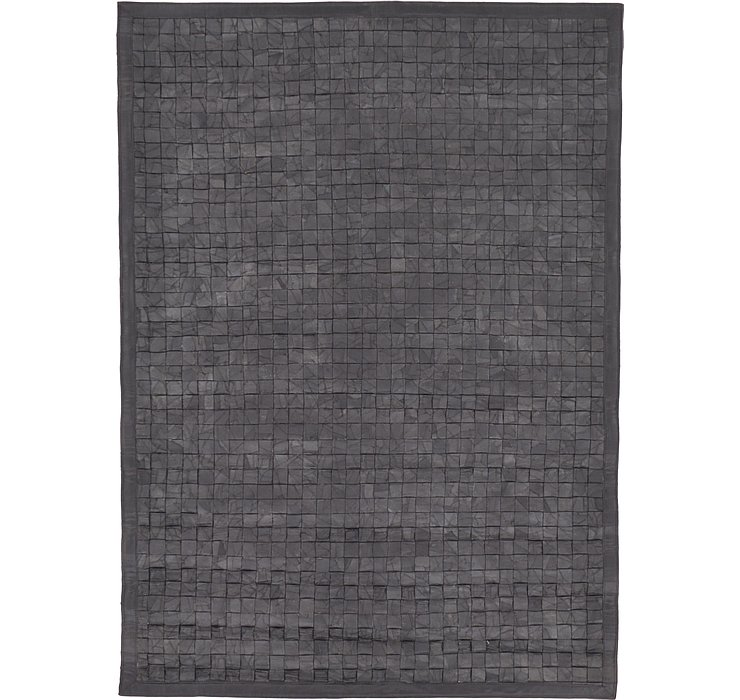 5' 7 x 7' 9 Leather Patchwork Rug