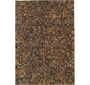 Link to 4' 7 x 6' 7 Leather Patchwork Rug