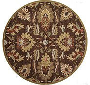 Link to 12' 2 x 12' 2 Floral Agra Round Rug