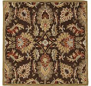Link to 6' 7 x 6' 7 Floral Agra Square Rug