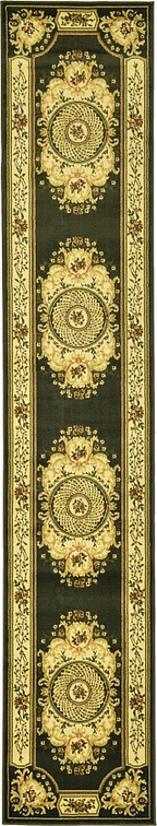 Green 2 6 X 13 Classic Aubusson Runner Rug Area Rugs