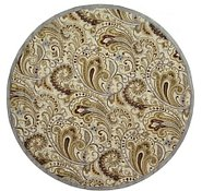 Link to 11' 10 x 11' 10 Floral Agra Round Rug