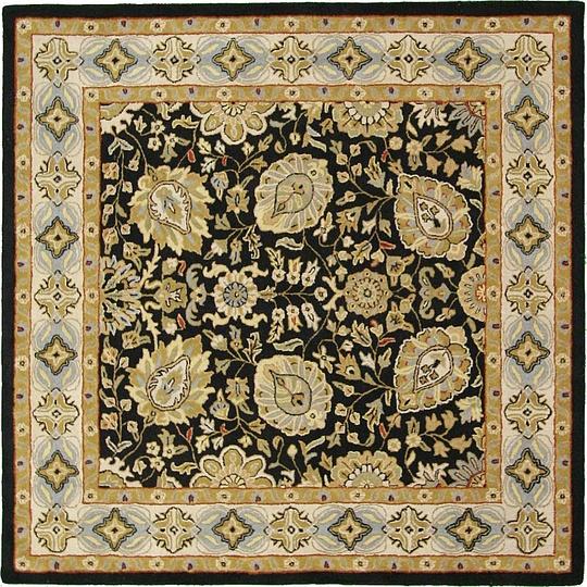 Black 8' 2 X 8' 2 Classic Agra Square Rug