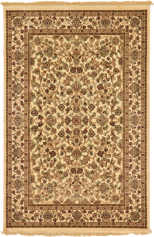cream 6 39 5 x 9 39 10 carved aubusson rug area rugs esalerugs. Black Bedroom Furniture Sets. Home Design Ideas