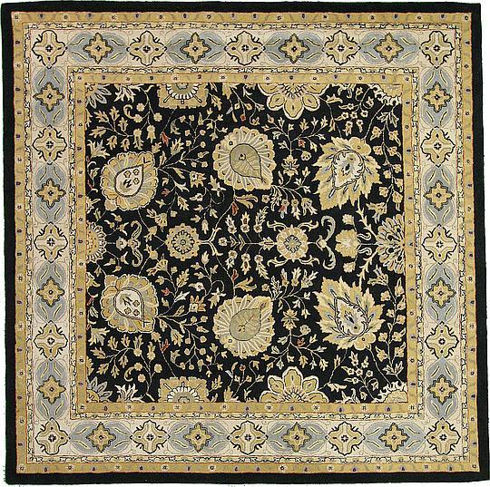 Black 11 11 X 11 11 Classic Agra Square Rug Area Rugs Esalerugs