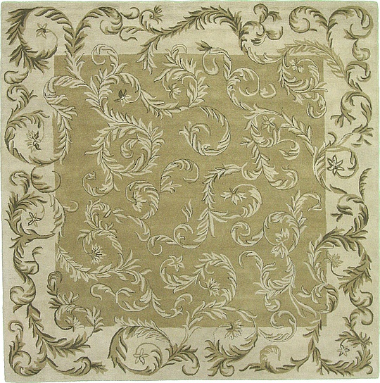 Green 11 11 X 11 11 Classic Agra Square Rug Area Rugs
