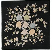 Link to 9' 10 x 9' 10 Floral Agra Square Rug